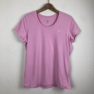 Nike FitDry Light Pink Top Large (12-14)